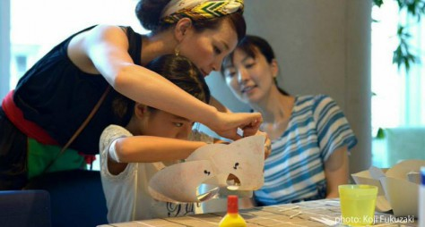 IDEESHOP jiyugaokaで毎夏行う親子ワークショップの様子