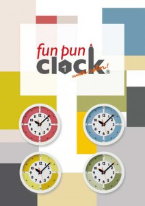 fun pun clock with color! press release