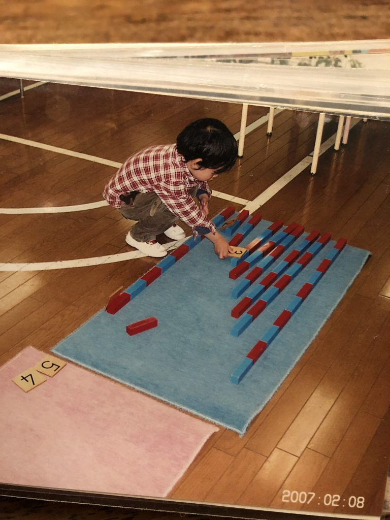 montessori buruered stick