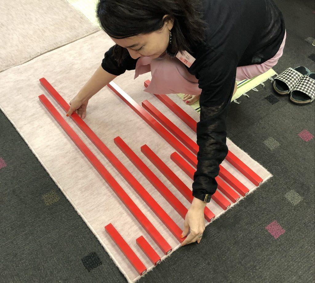 モンテッソーリ教具「赤い棒」 MONTESSORI RED STICK