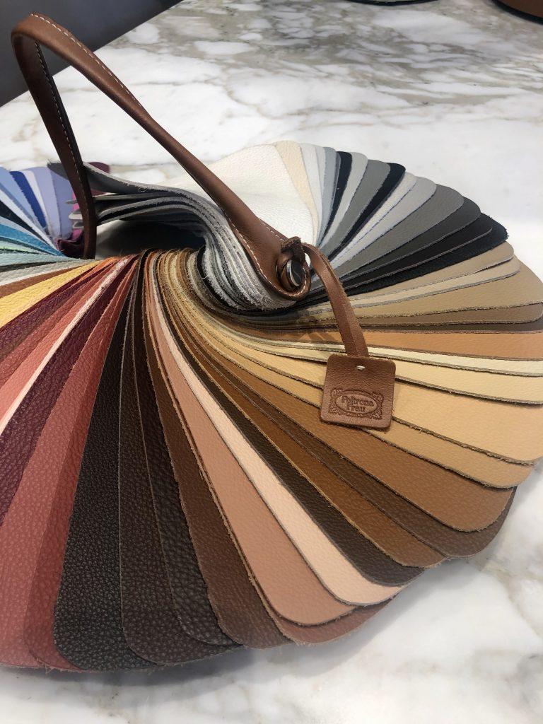 ペレ・フラウと呼ばれる、柔らかで美しい質感のポルトローナ・フラウの革。