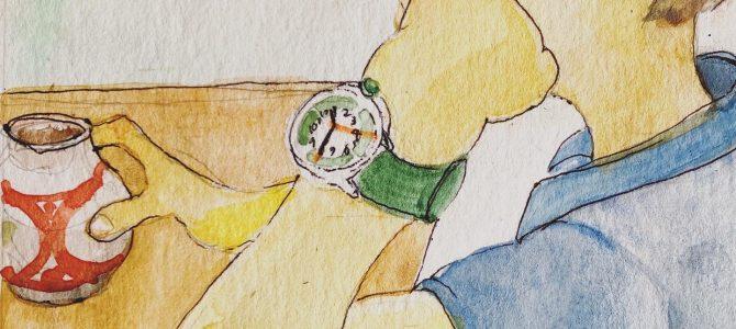 【子どもと時間】ふんぷんくろっく腕時計で時間通りに帰宅できるようになった小3男子のママからのDM